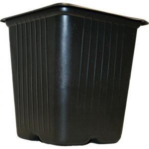 Vilmorin Pack de 15 Godets carrés noir en plastique 9cm