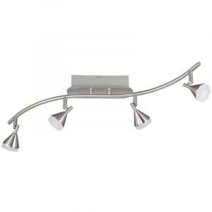 Wofi Un plafonnier Á LED avec des spots mobiles pour parfaitement éclairer votre pièce