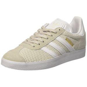 Adidas Gazelle, Baskets Basses Femme, Beige (Talc/Footwear White/Talc), 37 1/3 EU