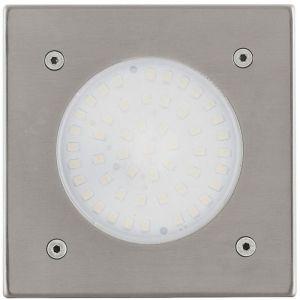 Eglo LAMEDO - Spot d'extérieur encastrable LED Blanc Chaud Nickel 10x10cm | Luminaire d'extérieur designé par