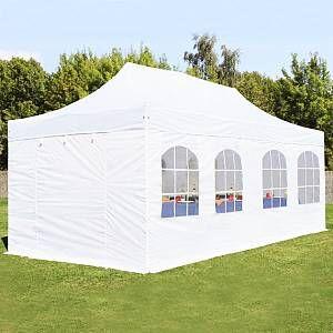 Intent24 Tente pliante 3x6 m avec fenêtres blanc PROFESSIONAL tente pliable ALU pavillon barnum.FR
