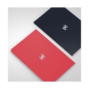 Oxford Pocket Notes agrafé - couverture carte - 9 x 14 cm - 48 pages - ligné 6 mm - tomate et noir - lot de 2