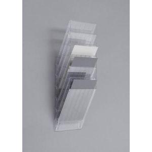 Durable 1709760400 - Présentoir mural FLEXIBOXX 6 A4, pour documents A4, transparent