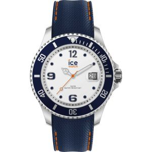 Ice Watch Ice-Watch - ICE steel White blue - Montre bleue pour homme avec bracelet en silicone - 016772 (Large)