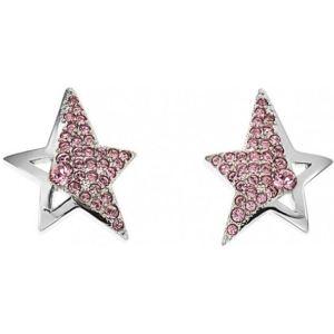 Thierry Mugler T31101P - Boucles d'oreilels en acier et pierres roses