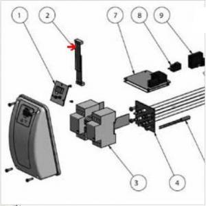 9382115 - Nappe circuit imprimé de réchauffeur Aqua-Line