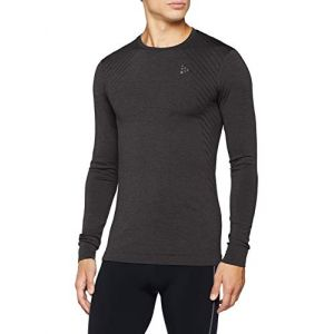Craft Fuseknit Comfort col Rond m. Longues Homme Maillot de Running Noir chiné, FR : M (Taille Fabricant : C: M)