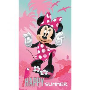 Drap de plage Minnie Happy (70 x 120 cm)