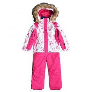 Roxy Paradise-Combinaison de Ski/Snowboard pour Fille 2-7 Ans, Bright White School Day, FR : M (Taille Fabricant : 6/7)