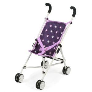 Bayer Chic Poussette-canne pour poupées Roma Mini accessoires pour poupée, stars violet