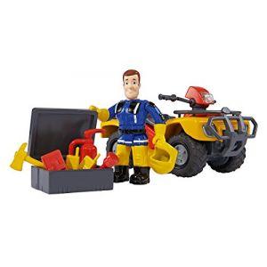Simba Toys Quad Mercury avec figurine Sam le Pompier