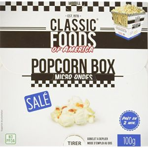 Classic Foods of America Popcorn box salé micro-ondes