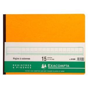 Exacompta Piqûre 15 colonnes 31 lignes 80 pages (280 x 380 mm)