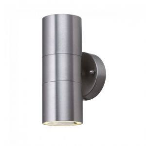 Searchlight Applique murale d'extérieur et véranda à LED (Gu10 Led) tube en acier inoxydable à 2 flammes