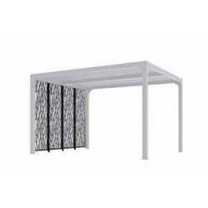 Foresta Habrita - 4 panneaux moucharabieh en acier gris anthracite côté 3m pour pergola bioclimatique - PER3630M30