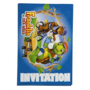 6 cartes d'invitation avec enveloppes Franklin