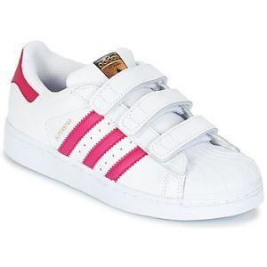 Adidas B23665, Chaussures de Basketball Garçon, Blanc (Footwear White/Bold Pink/Footwear White), 34 EU
