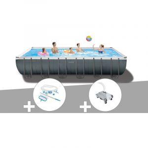 Intex Kit piscine tubulaire Ultra XTR Frame rectangulaire 7,32 x 3,66 x 1,32 m + Kit d'entretien + Robot nettoyeur