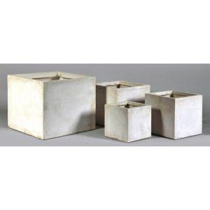 Mcollection Pot carré GENEVE 34x34xH.30 Sable