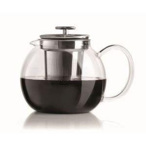 Bialetti 0003330 - Theière à piston en verre avec filtre et couvercle 1 L