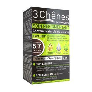 3 Chênes Soin repigmentant cheveux naturels ou colorés - 5.7 châtain clair marron