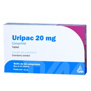 TVM Uripac 20 mg 15 capsules pour chien