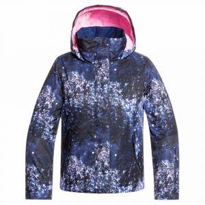 Roxy Jetty Girl-Veste de Ski/Snowboard Fille 8-16 Ans, Medieval Blue Sparkles, FR : L