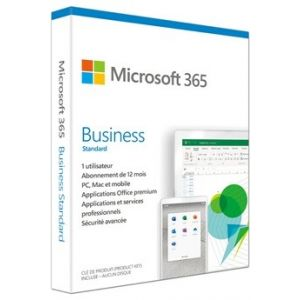Logiciel 365 Bus Std Retail French Sub 1YR France Only Mdls SaveNow P6 [Windows]