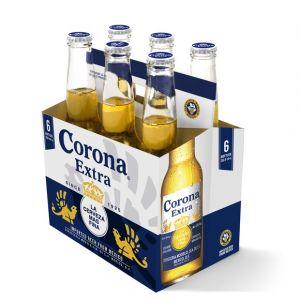Corona Corono Extra, 4,6%vol. La cerveza mas fina - Le pack de 6 bouteilles de 35,5cl