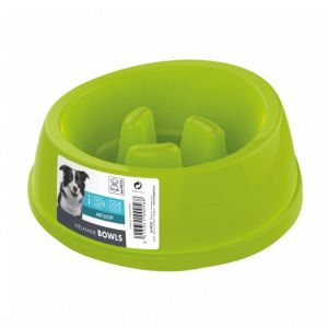 M pets Gamelle en plastique simple MELAMINE BOWL - Pour chien - 900ml - Coloris divers - Gamelle simple - Antidérapante - Système anti-glouton