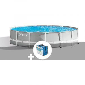 Intex Kit piscine tubulaire Prism Frame ronde 4,57 x 1,07 m + Bâche à bulles