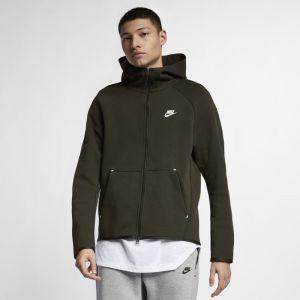 Nike Sweatà capuche entièrement zippé Sportswear Tech Fleece pour Homme - Olive - Couleur Olive - Taille XS