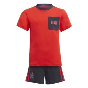 Adidas Ensemble LB DY SHA Rouge - Taille 1-2 Ans