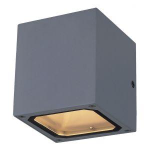 Vertak Applique d'extérieur LED carrée à double faisceau gris anthracite