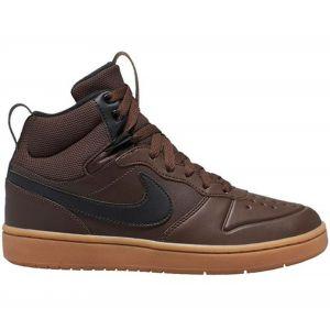 Nike Baskets Court Borough Mid 2 Gs - Baroque Brown / Black / Gum Med Brown - EU 38 1/2