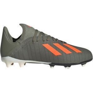 Adidas X 19.3 FG J, Chaussures de Football bébé garçon, Vert (Legacy Green/Solar Orange/Chalk White Legacy Green/Solar Orange/Chalk White), 34 EU