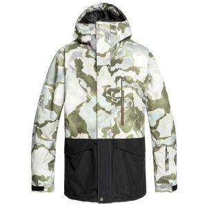 Quiksilver Mission-Veste de Ski/Snowboard pour Homme, Grape Leaf siredwards, FR : M (Taille Fabricant : M)