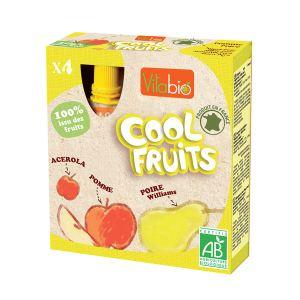 KaliBio Cool Fruits : Compote à boire Pomme-Poire 4 x 90g