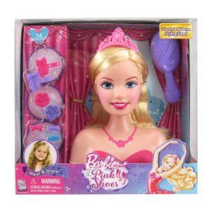 Mattel Tête de Barbie à coiffer in the pink shoes