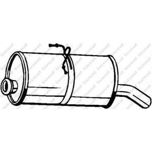 Bosal Silencieux arrière 135-705