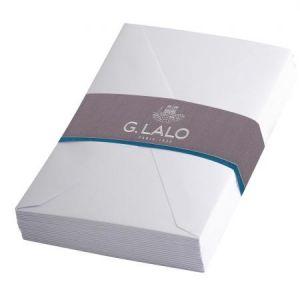 G. Lalo 24200L - 25 enveloppes 90x140/FT30 Diploma doublées gommées, coloris blanc