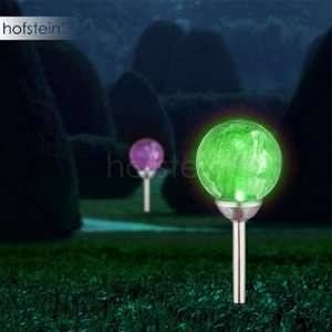 Globo Lighting Lampe solaire inox - Verre craquelé translucide - IP44