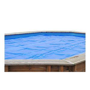 Sunbay 770416 - Bâche d'été à bulles 400 microns pour piscine ovale hors sol en bois 7,76 x 3,80 m