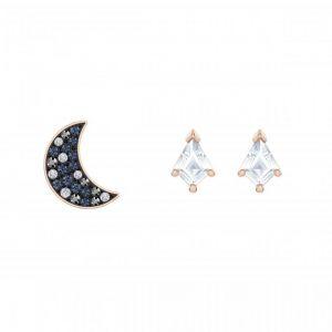 Swarovski Coffret Boucles d'oreilles 5494353 - Métal Doré Rose Thème Nuit Cristaux Étincelants Femme