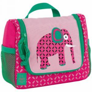 Lässig Casual Mini Washbag sac cosmétique Waschbeuteul pour accrocher, bagages enfants, faune éléphant cas de vanité, 20 cm, Rose