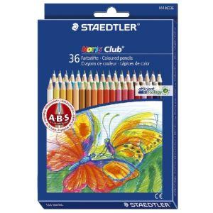 Staedtler 36 Crayons de couleur Noris Club assortis