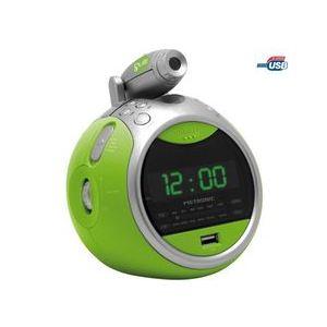 Metronic Gulli - Radio réveil projecteur avec port USB