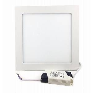 Silamp Downlight Dalle LED Extra Plate Carré BLANC 18W - couleur eclairage : Blanc Chaud 2300K - 3500K