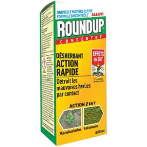 Roundup Désherbant concentré multi-usages - 800 mL - Engrais, Fertilisant