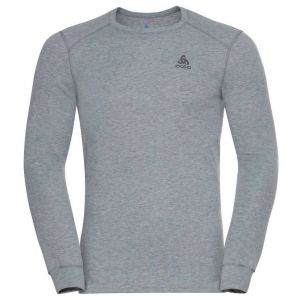 Odlo Base Layer Top Crew Neck L/S Active Warm Eco - Sous-vêtement synthétique taille XXL, gris